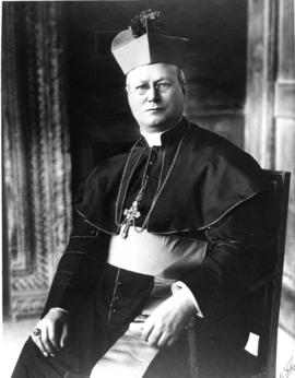 Official portrait of Bishop John.T. McNally, seated