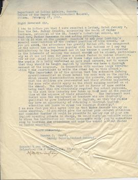 Copy of letter from Duncan C. Scott
